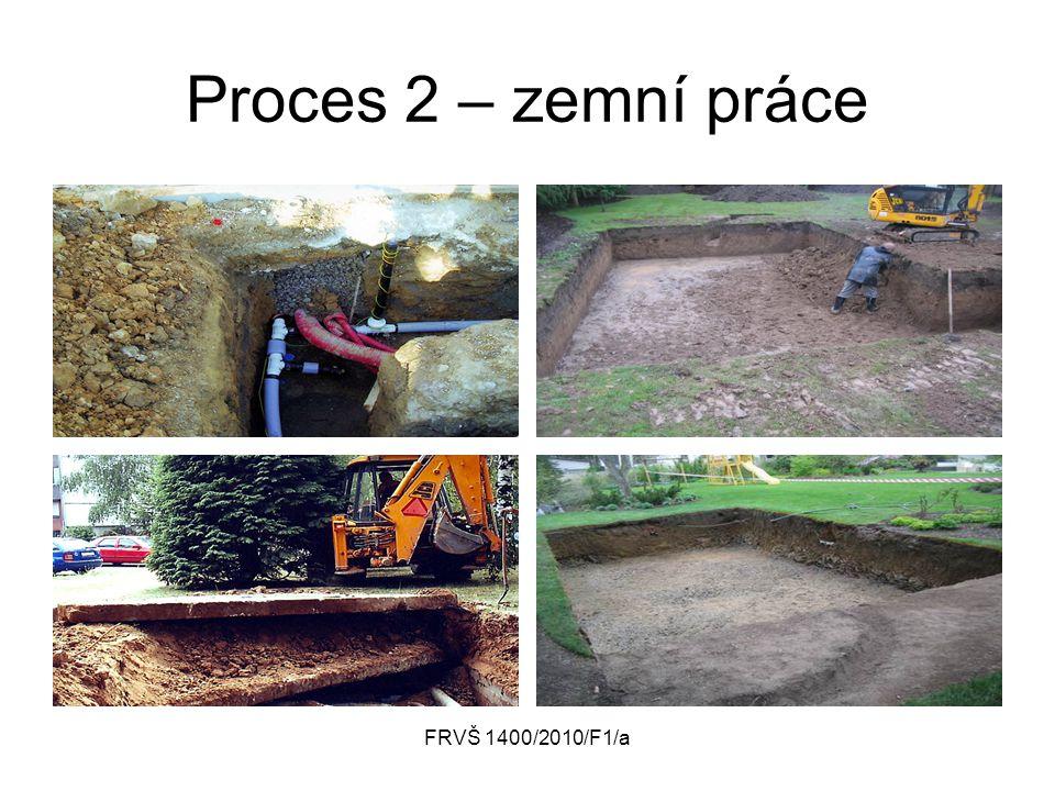 FRVŠ 1400/2010/F1/a Proces 2 – zemní práce