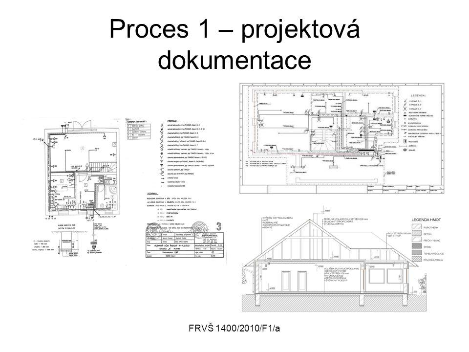 FRVŠ 1400/2010/F1/a Proces 1 – projektová dokumentace
