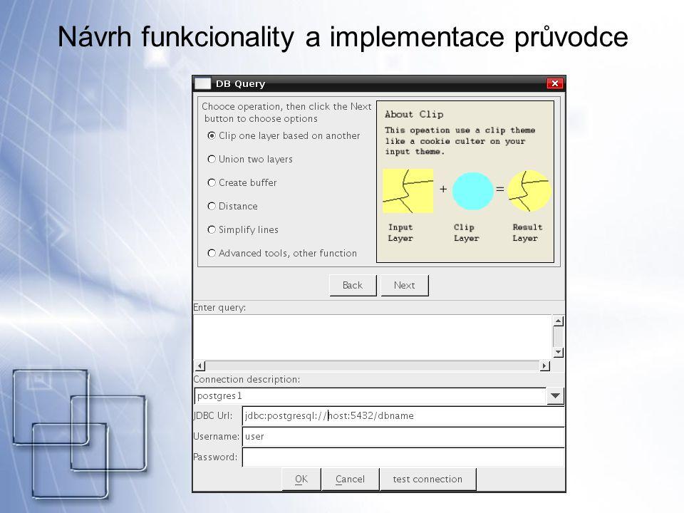 Návrh funkcionality a implementace průvodce
