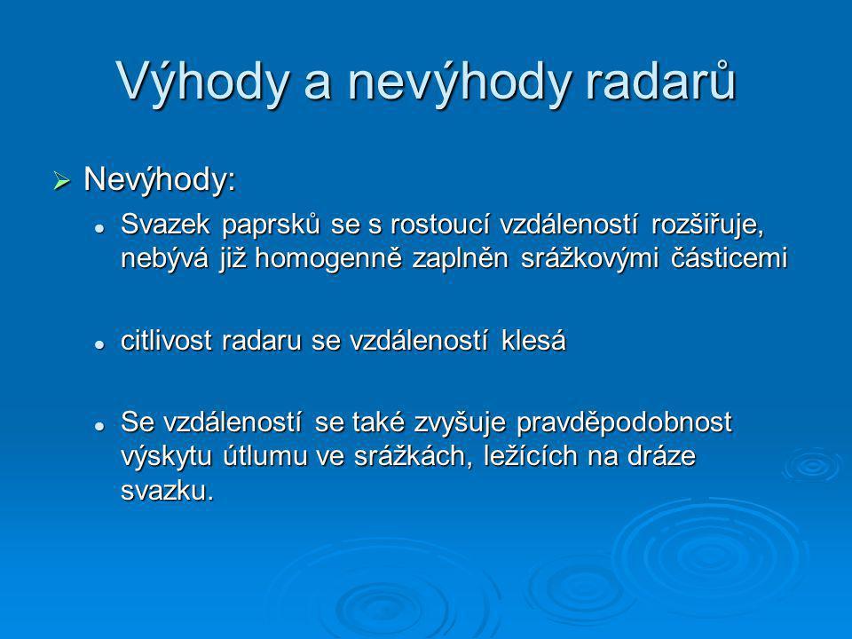Radary v ČR  Gematronik: skalky u Protinavova (střední Morava) (střední Morava)  EEC: Brdy – Praha (2000) Dříve radar MRL-5 Praha Libuš  Pokrytí ČR radary