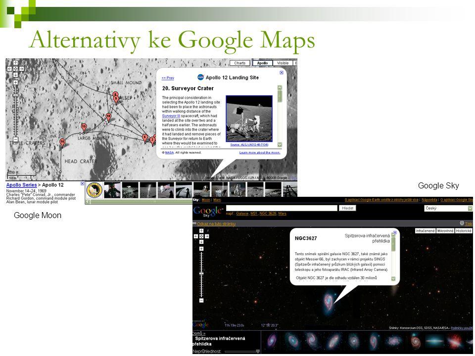 Alternativy ke Google Maps Google Sky Google Moon