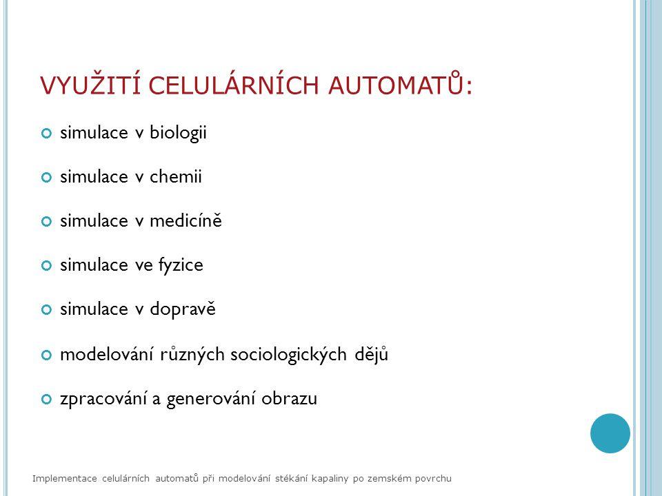 ZDROJE DAT: DRÁBEK, V.: Vlastnosti a použití binárních celulárních automatů.