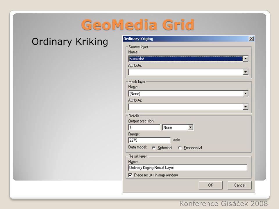 GeoMedia Grid Ordinary Kriking Konference Gisáček 2008