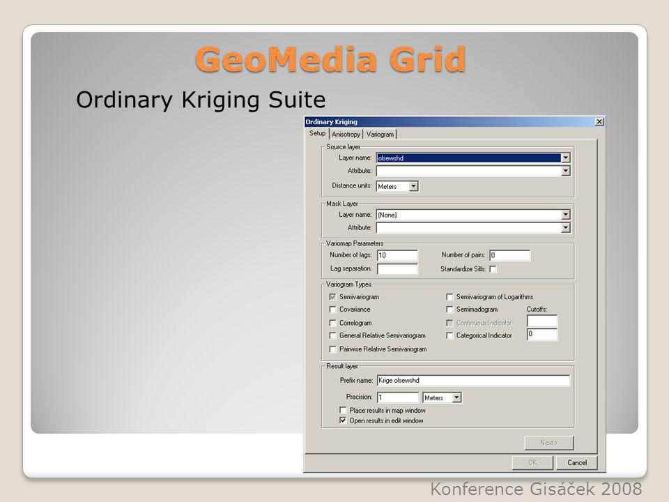 GeoMedia Grid Ordinary Kriging Suite Konference Gisáček 2008