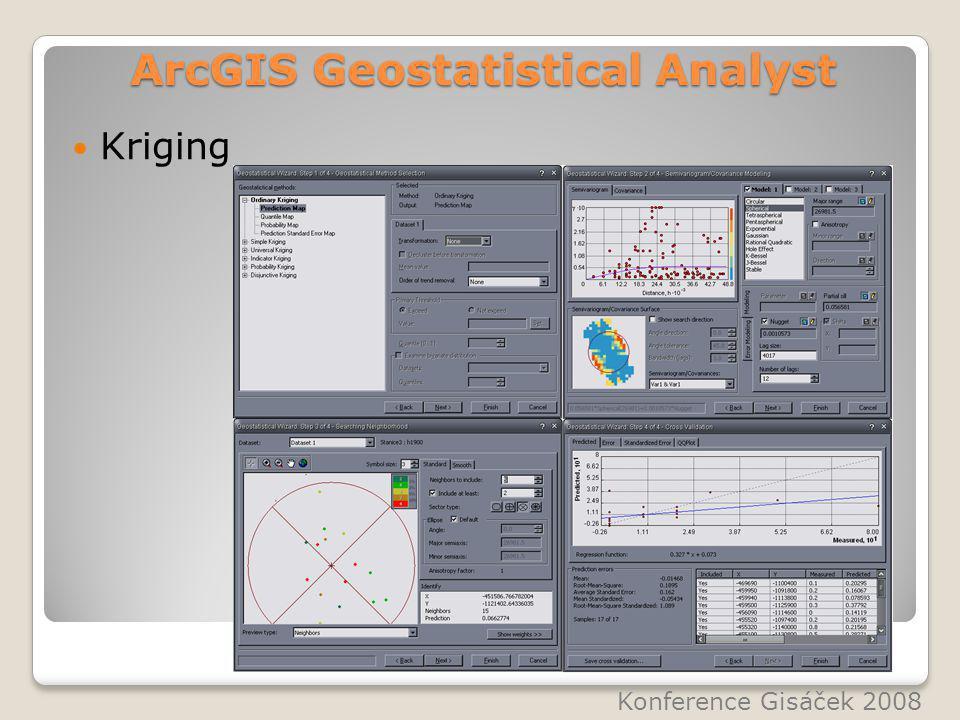 ArcGIS Geostatistical Analyst Kriging Konference Gisáček 2008