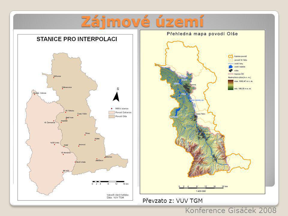 Zájmové území Konference Gisáček 2008 Převzato z: VUV TGM