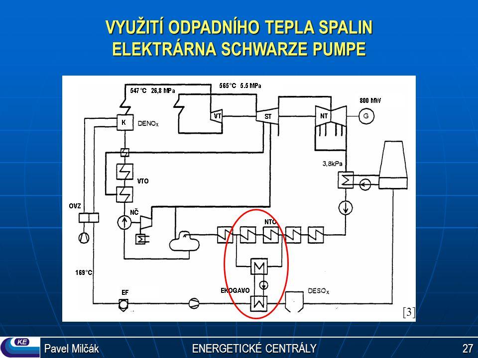 Pavel Milčák ENERGETICKÉ CENTRÁLY 27 VYUŽITÍ ODPADNÍHO TEPLA SPALIN ELEKTRÁRNA SCHWARZE PUMPE [3][3]