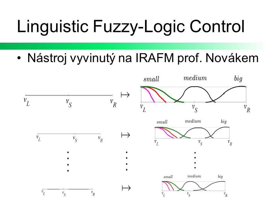 Linguistic Fuzzy-Logic Control Nástroj vyvinutý na IRAFM prof. Novákem