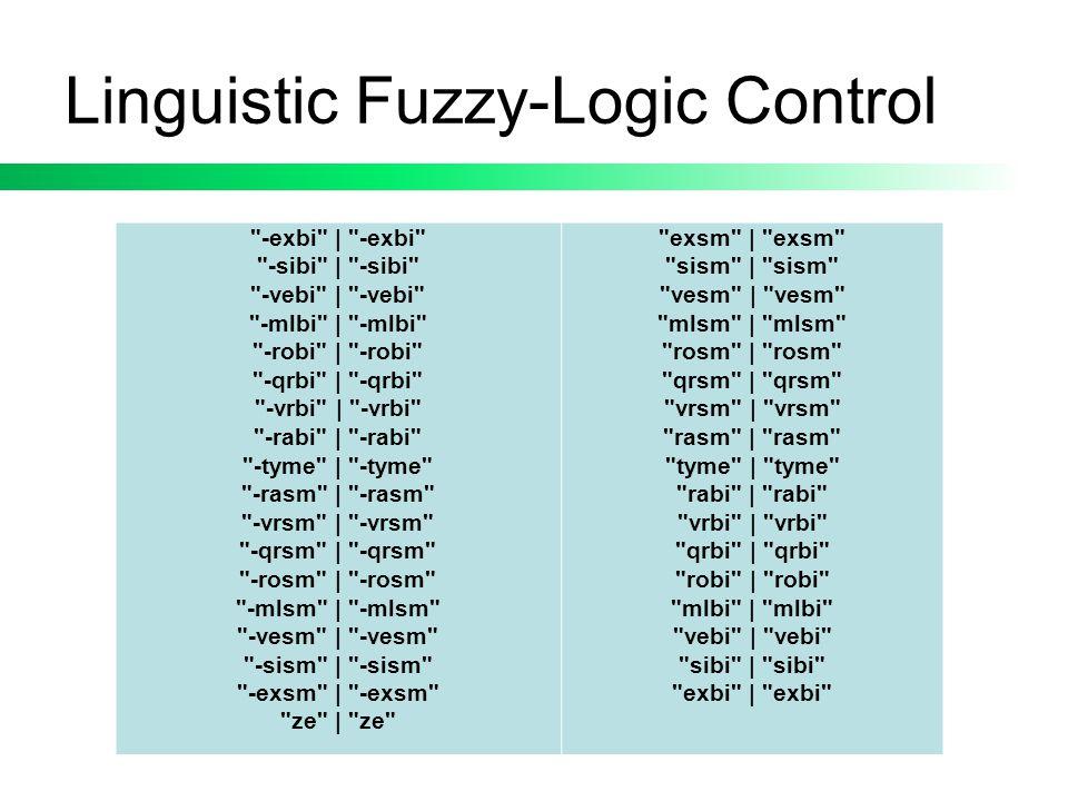 Linguistic Fuzzy-Logic Control