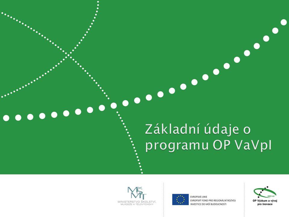  čtvrtý největší český operační program  z fondů EU vyčleněno 2,4 mld.
