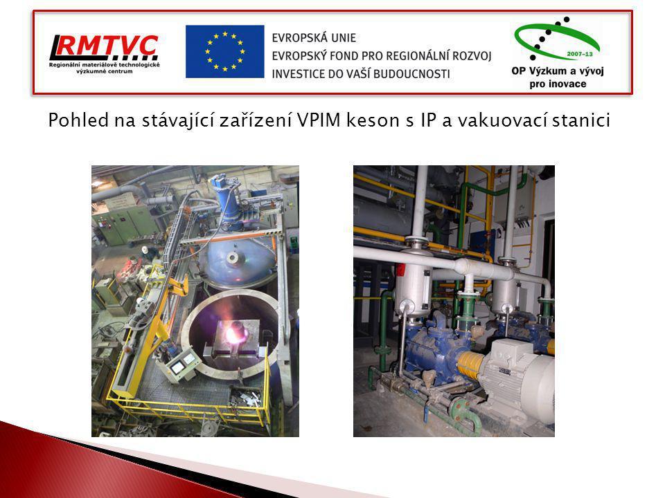 Pohled na stávající zařízení VPIM keson s IP a vakuovací stanici