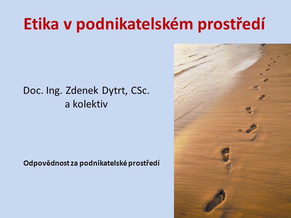 Autorský kolektiv Doc.Ing. Zdenek Dytrt, CSc.