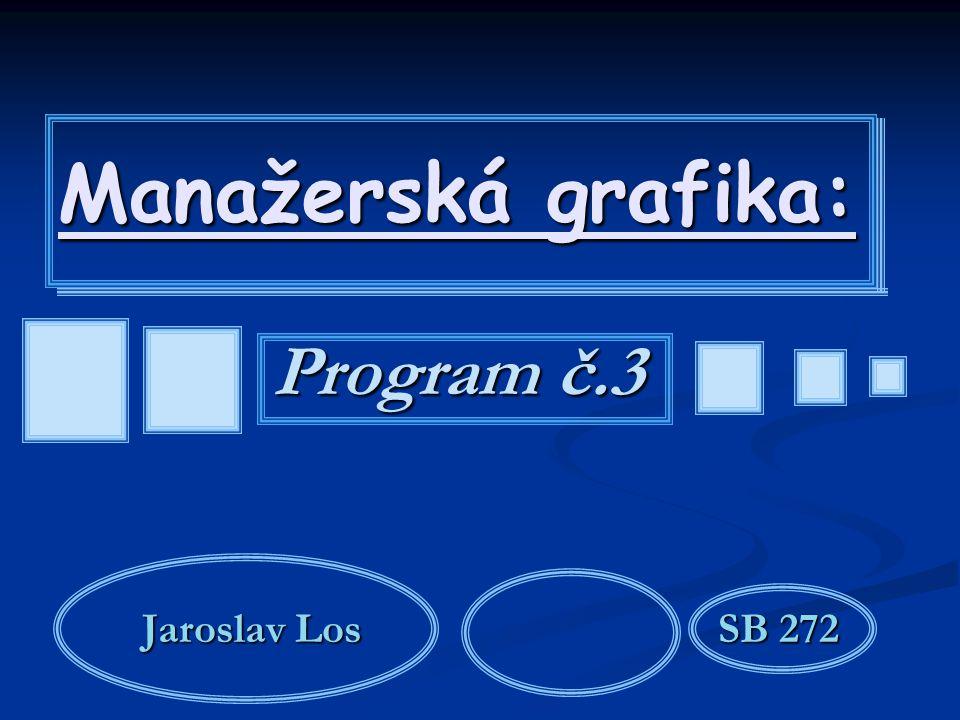 Manažerská grafika: Program č.3 Jaroslav LosSB 272