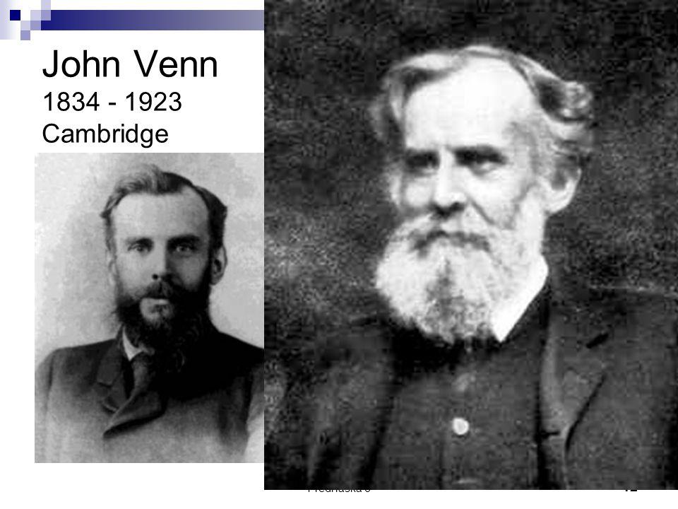 Přednáška 612 John Venn 1834 - 1923 Cambridge