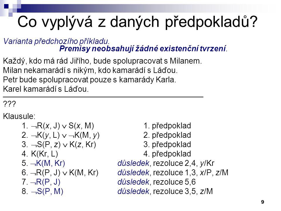 30 Základy (logika) Prologu Pojem příkazu chápeme ve smyslu předchozí poznámky.