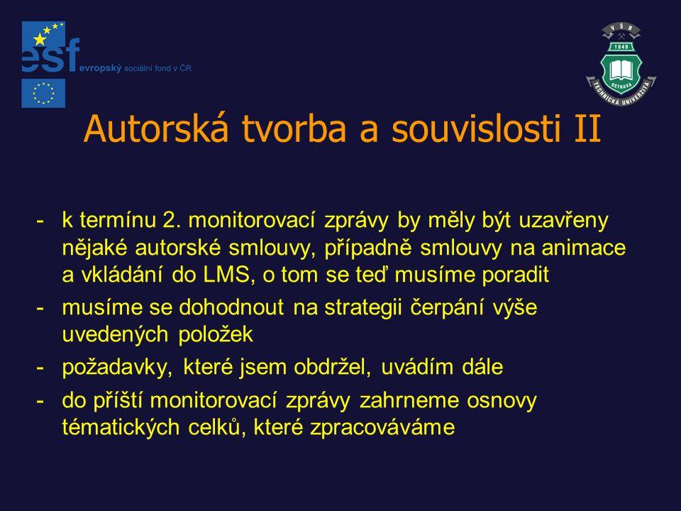 Autorská tvorba a souvislosti II -k termínu 2.