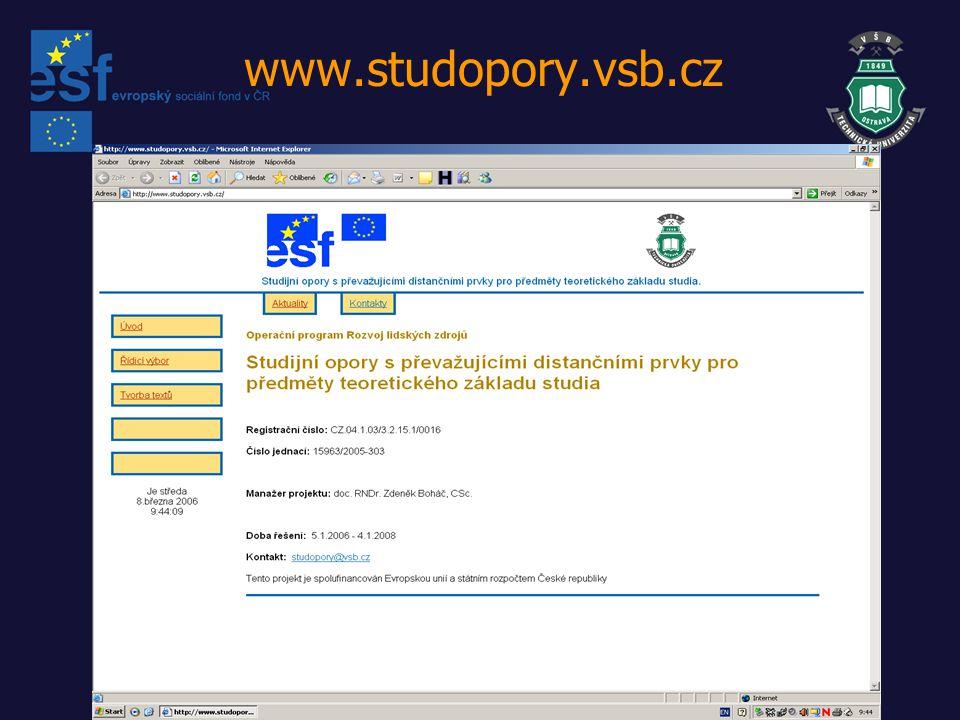 www.studopory.vsb.cz