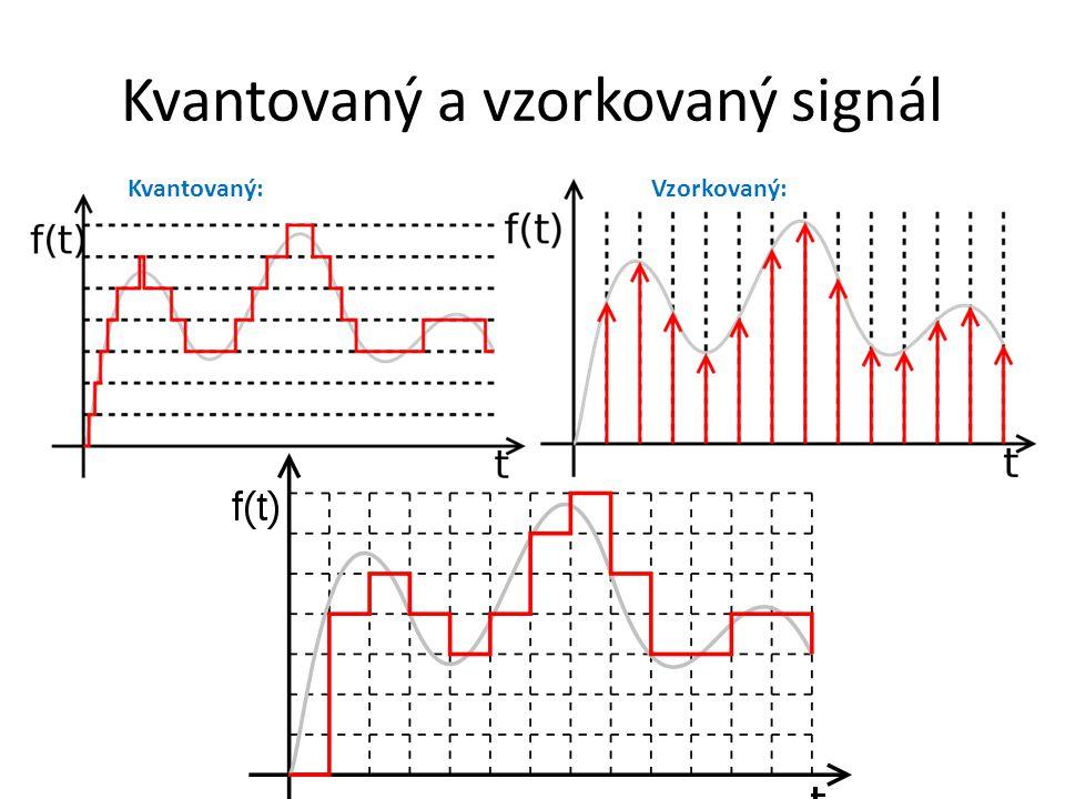 Kvantovaný a vzorkovaný signál Kvantovaný:Vzorkovaný: