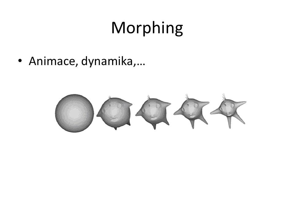 Morphing Animace, dynamika,…