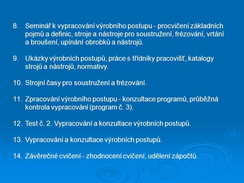 Podmínky absolvování Body ze cvičení: Program č.1 (základy měření)5 bodů Program č.