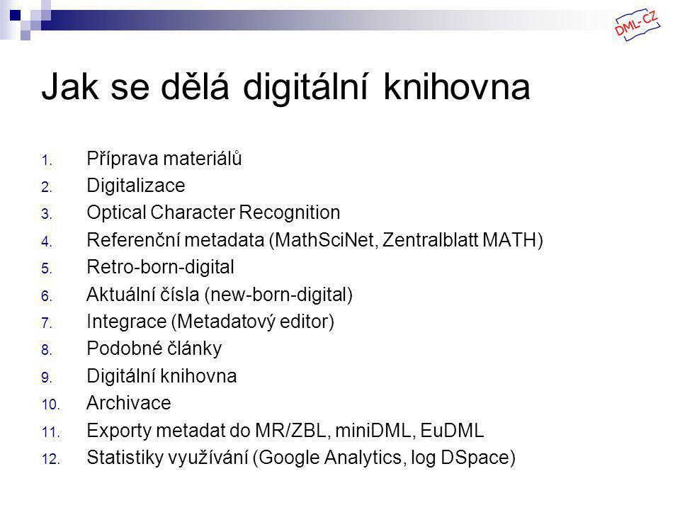 Jak se dělá digitální knihovna 1. Příprava materiálů 2.