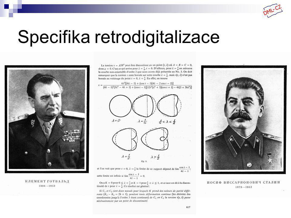Specifika retrodigitalizace