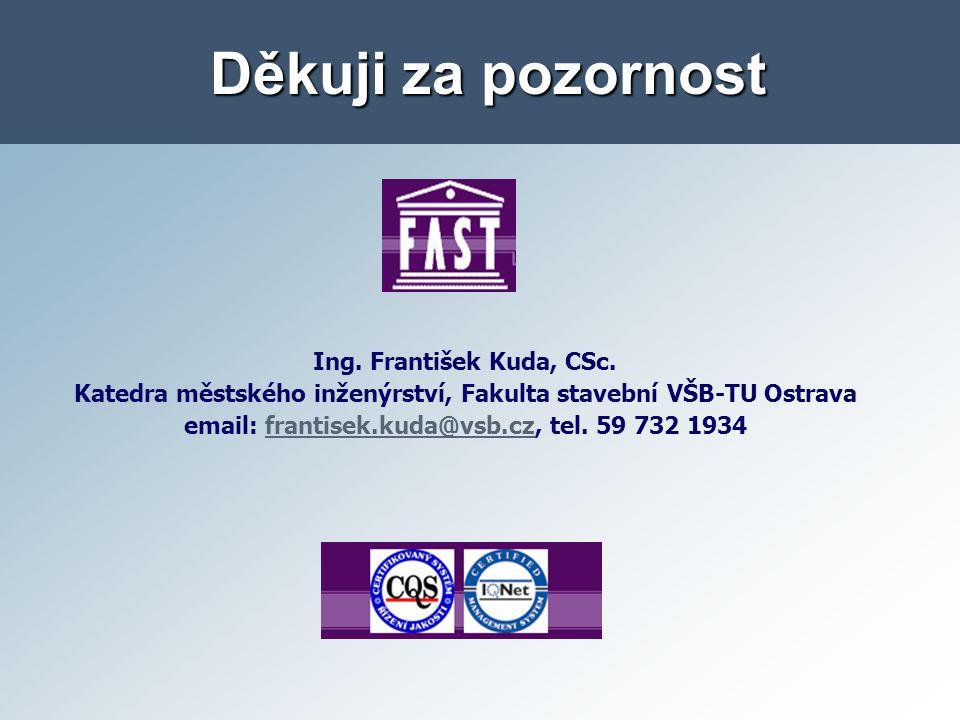Děkuji za pozornost Ing.František Kuda, CSc.