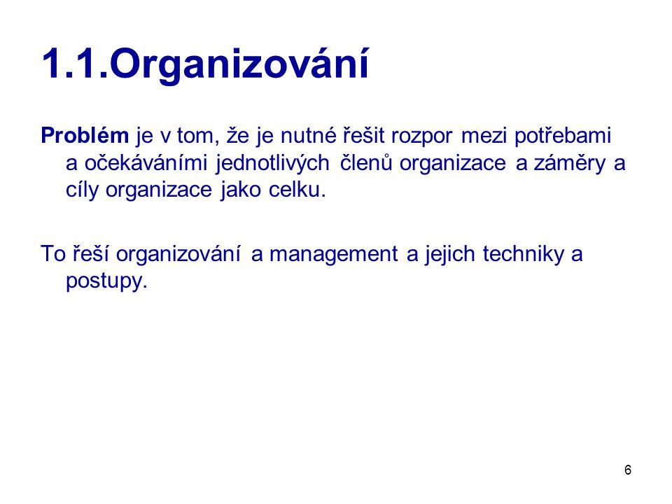 7 1.2.Podnik Podnik je organizace – má prvky a vztahy (těsné nebo volné).