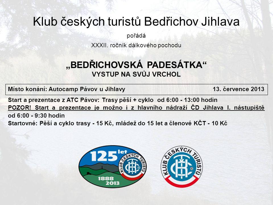 Informace Trasy:Přehled pěších tras a cyklotras Ubytování:V místě startu v ATC Pávov (spací pytel nebo vlastní povlečení).