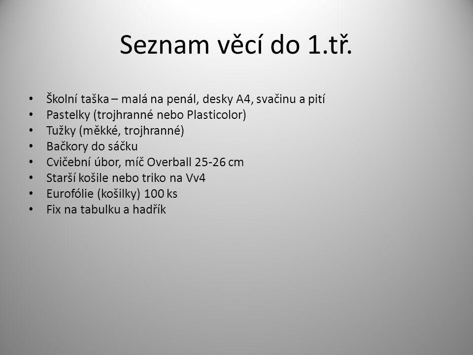 Seznam věcí do 1.tř.