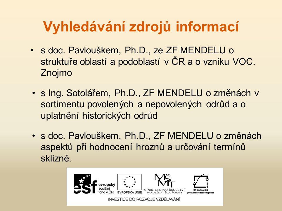 Vyhledávání zdrojů informací s doc.
