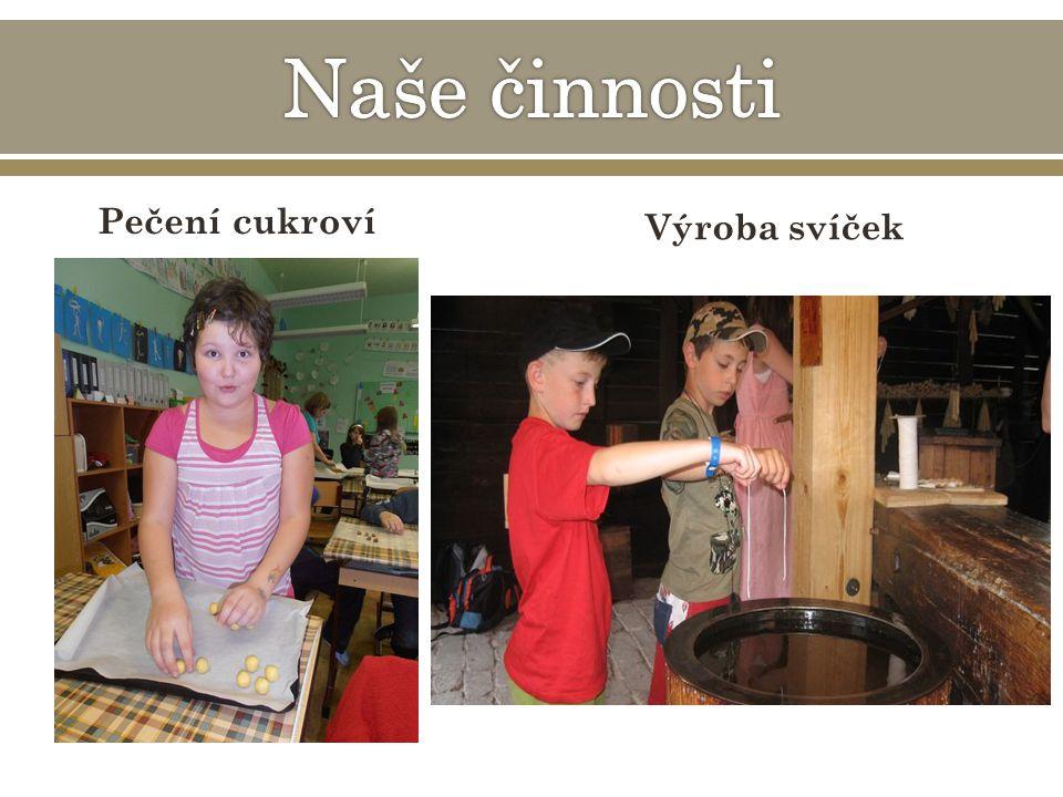 Pečení cukroví Výroba svíček