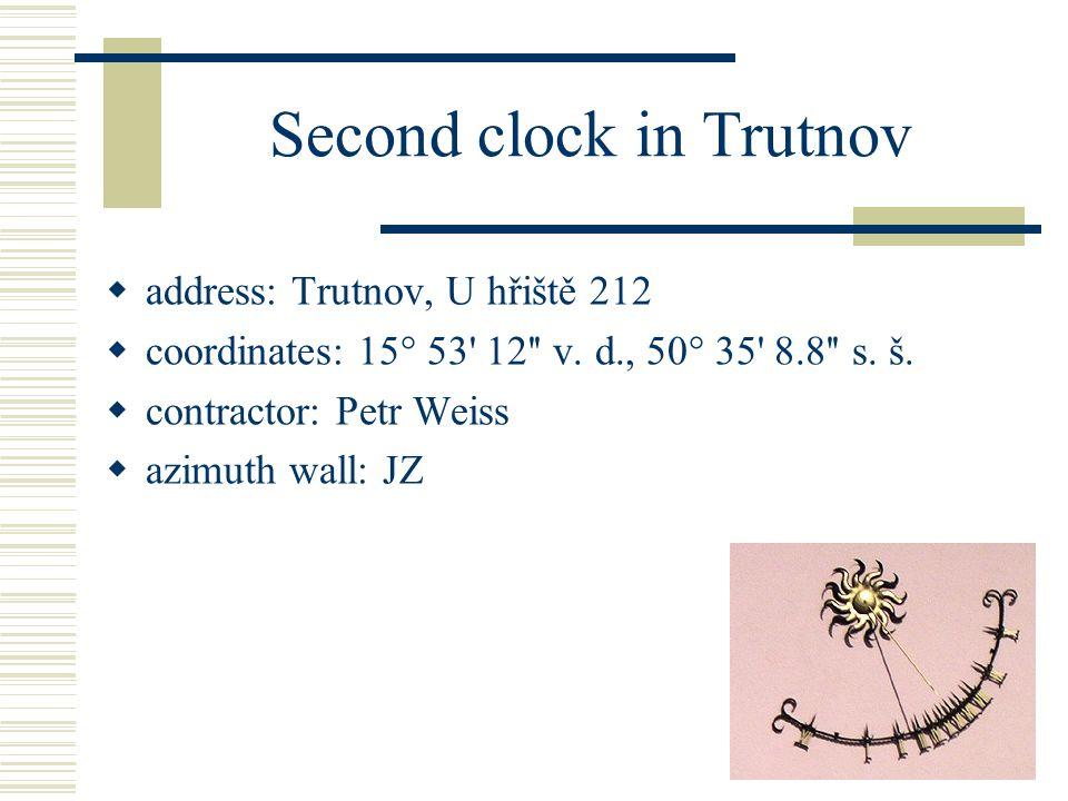 Sun clock in Dvůr Králové  address: Dvůr Králové nad Labem, T.