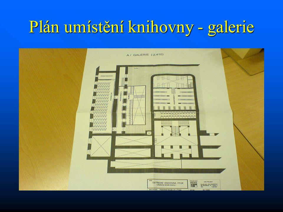 Plán umístění knihovny - galerie