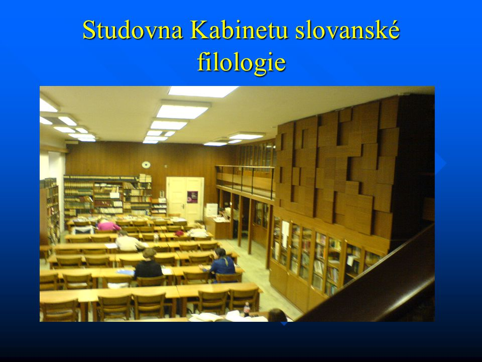Studovna Kabinetu slovanské filologie