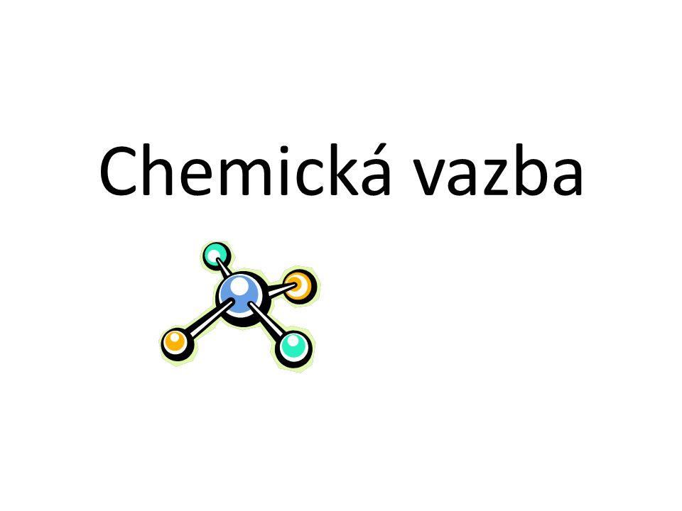 Soudržné síly mezi atomy nazýváme chemická vazba Všechny chemické látky se skládají z atomů Jen málo látek obsahuje jednotlivé – vzájemně nespojené atomy (Helium, Argon…) Většina chemických látek obsahuje spojené atomy He Ar HH H2H2 H H O H2OH2O H Cl HCl