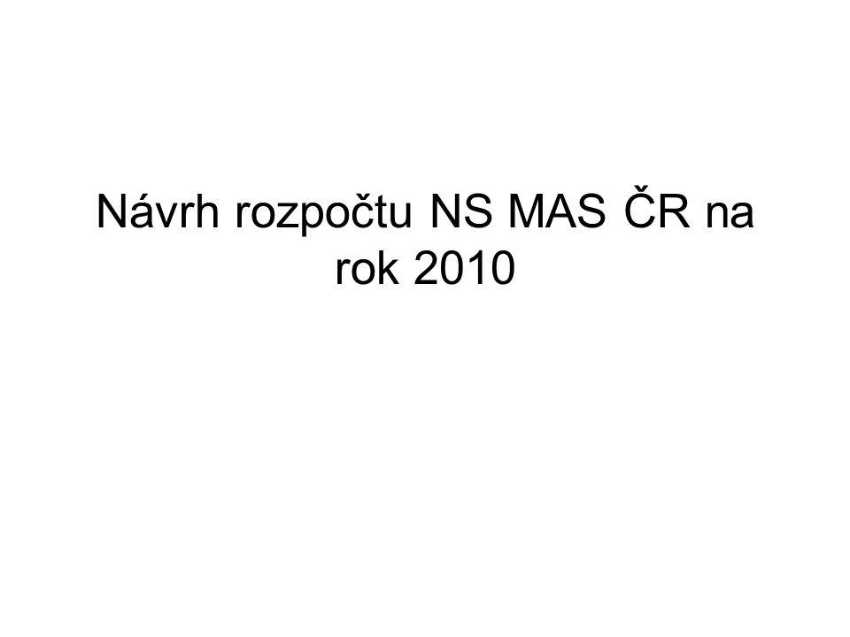 Návrh rozpočtu NS MAS ČR na rok 2010