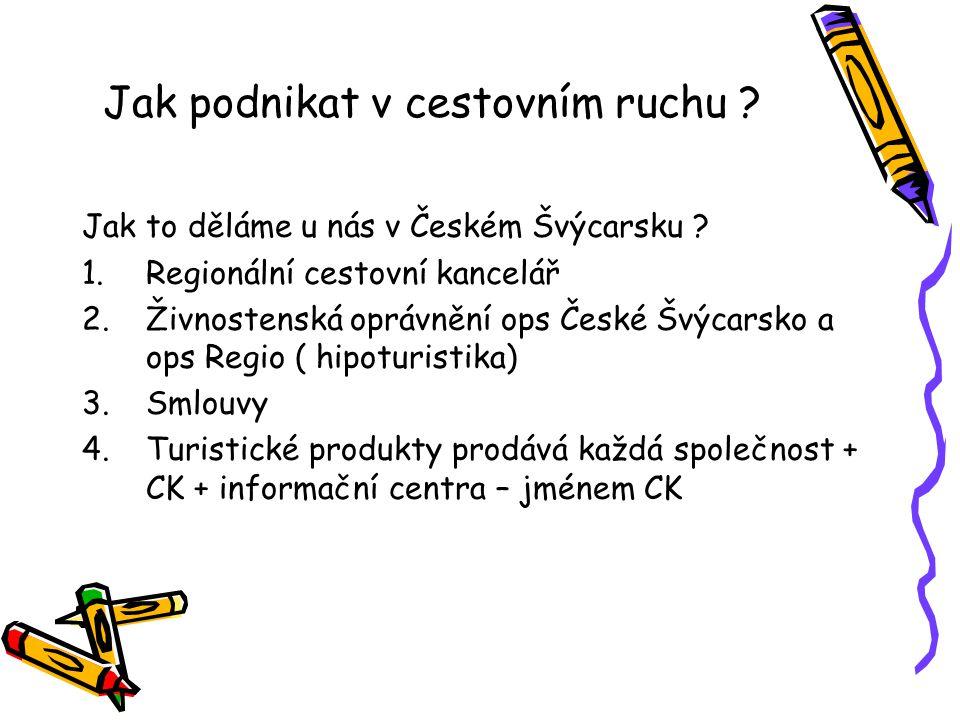 Jak podnikat v cestovním ruchu .Jak to děláme u nás v Českém Švýcarsku .