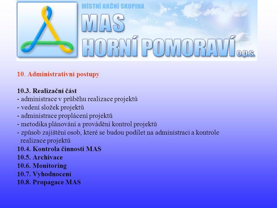 10. Administrativní postupy 10.3.