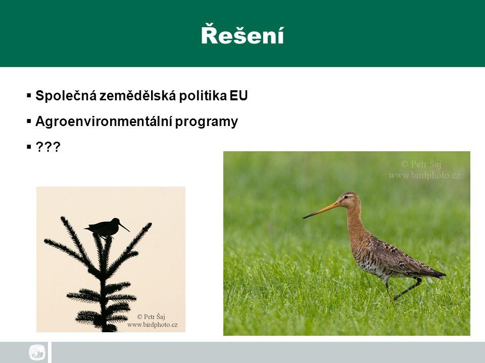 Řešení  Společná zemědělská politika EU  Agroenvironmentální programy  ???