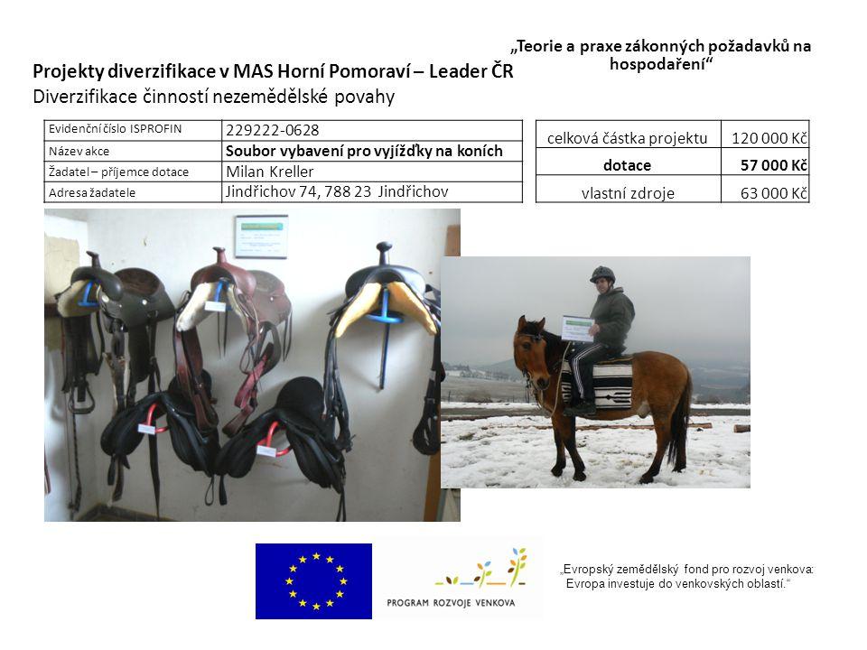 """""""Evropský zemědělský fond pro rozvoj venkova: Evropa investuje do venkovských oblastí. Ing."""