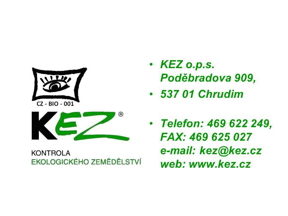 KEZ o.p.s. Poděbradova 909, 537 01 Chrudim Telefon: 469 622 249, FAX: 469 625 027 e-mail: kez@kez.cz web: www.kez.cz
