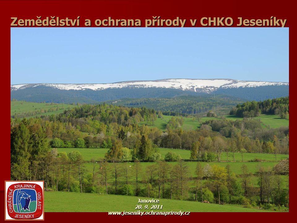 CHKO Jeseníky v systému české OP www.nature.cz 4 NP, 25 CHKO www.nature.cz