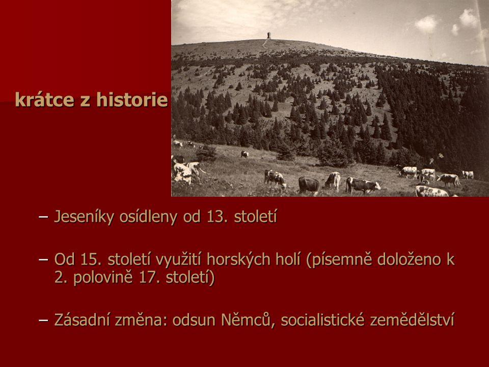 Změny po roce 1950 –Odloučení od vlastnictví (Sudety vs.