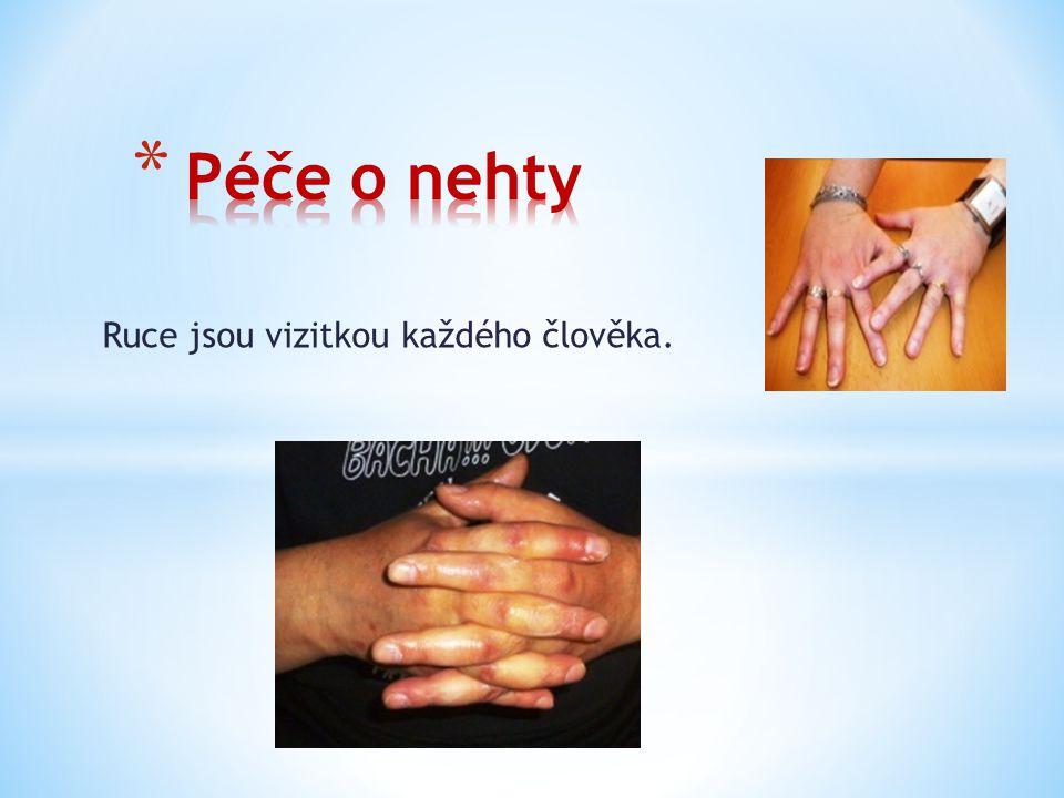 Manikúra je čištění nehtů, jejich zarovnání a odstranění odumřelé kůže z jejich okolí.