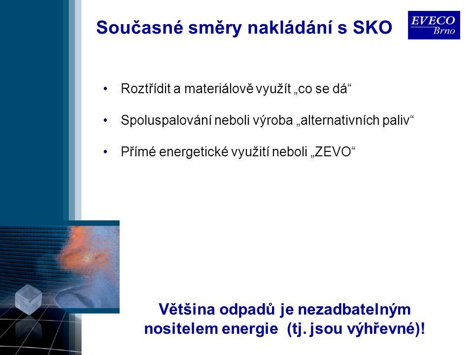 """Současné směry nakládání s SKO Většina odpadů je nezadbatelným nositelem energie (tj. jsou výhřevné)! Roztřídit a materiálově využít """"co se dá"""" Spolus"""