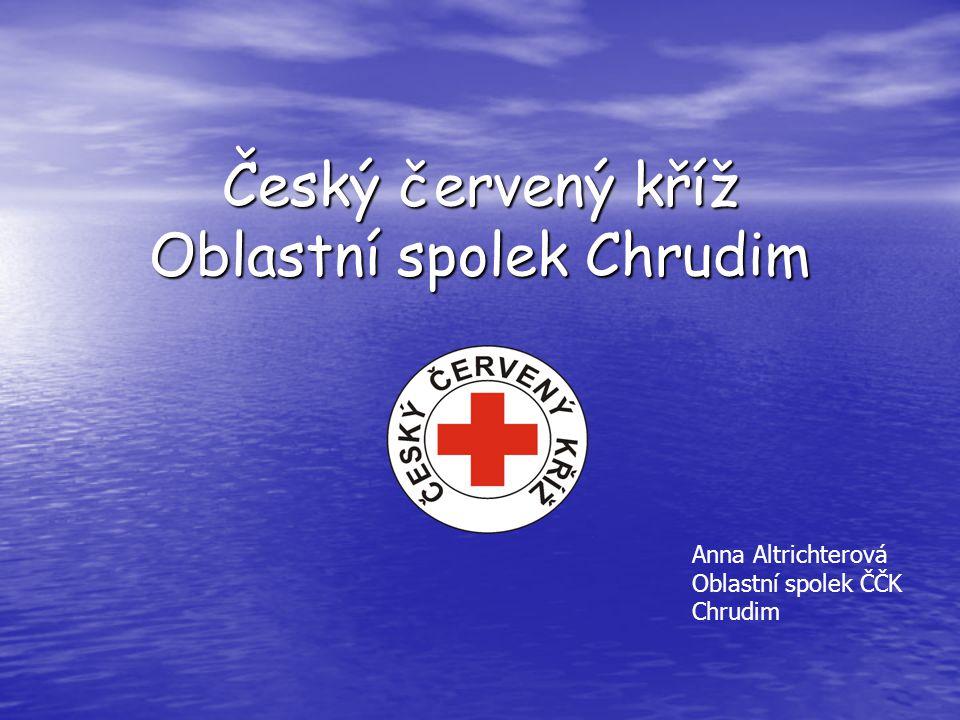 Český červený kříž Oblastní spolek Chrudim Anna Altrichterová Oblastní spolek ČČK Chrudim