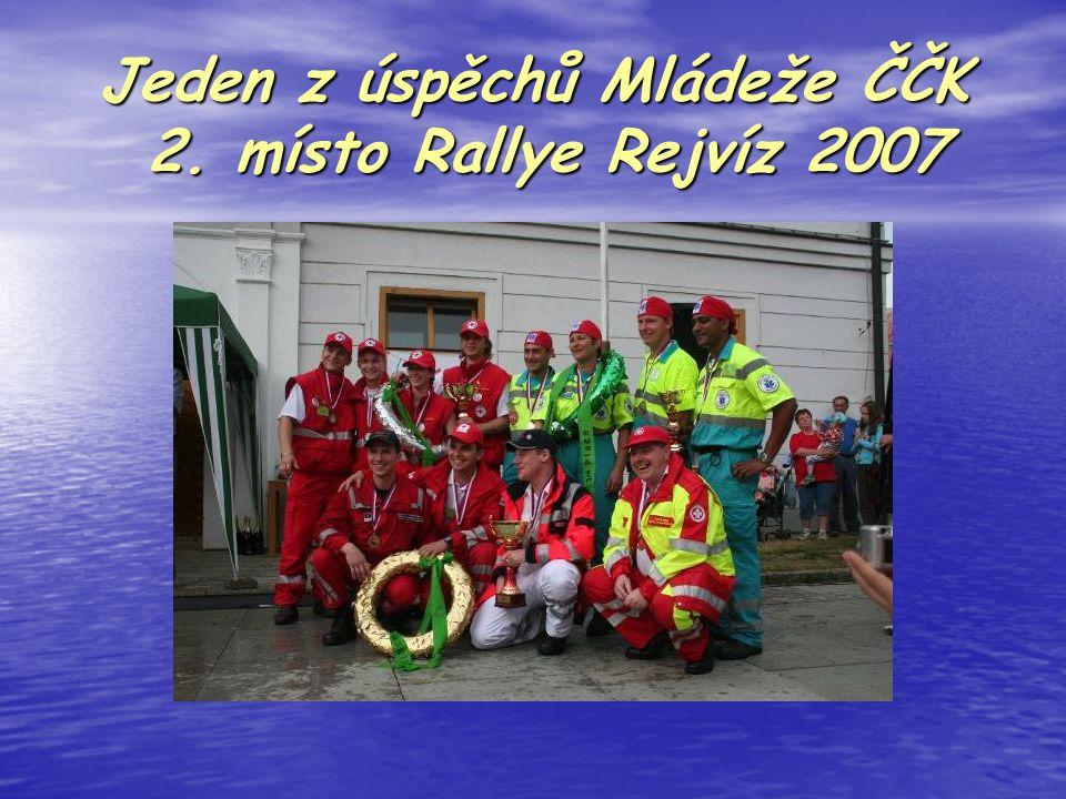 Jeden z úspěchů Mládeže ČČK 2. místo Rallye Rejvíz 2007