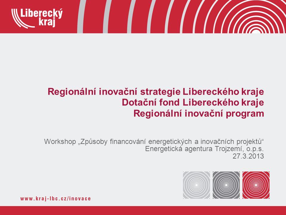 Témata prezentace Programové období 2014 - 2020 Koncepční rámec Regionální inovační strategie LK Dotační fond LK Regionální inovační program Inovační vouchery