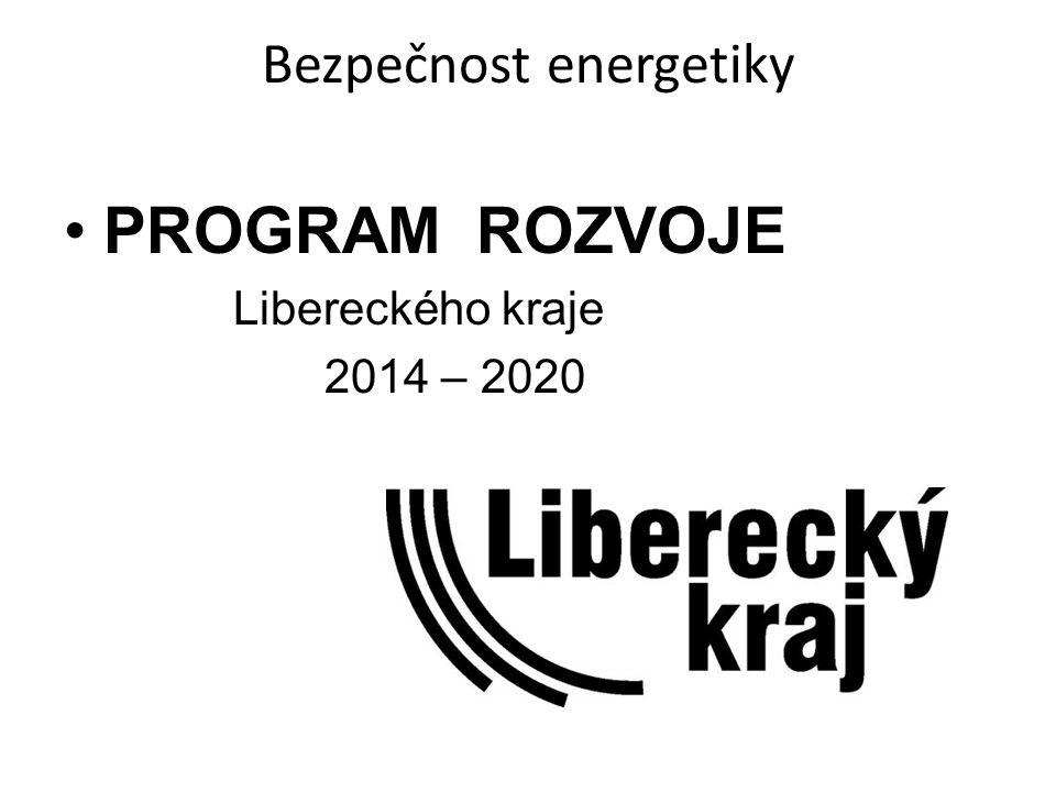 Bezpečnost energetiky PROGRAM ROZVOJE Libereckého kraje 2014 – 2020